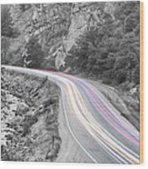 Boulder Canyon Drive And Selective Commute  Wood Print