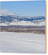Boulder Colorado Wood Print