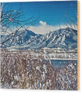Boulder Colorado Winter Season Scenic View Wood Print