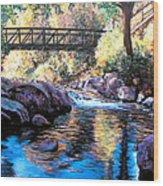 Boulder Creek Bridge Wood Print