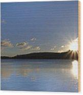 Boulder Lake At Sunrise Wood Print