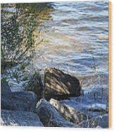 Boulder Wood Print