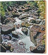 Boulder Stream Wood Print