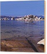 Boulders At The Coast, Lake Tahoe Wood Print