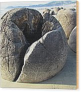 Boulders Wood Print by Joyce Woodhouse