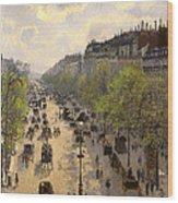 Boulevard Montmarte Wood Print