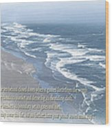 Boundaries Of Beaches Wood Print