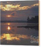 Boundary Waters Sunrise Wood Print
