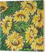Bountiful Sunflowers Wood Print