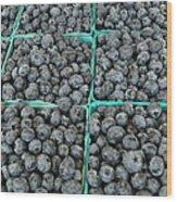 Bounty Of Blueberries Wood Print