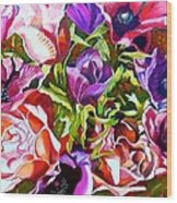Bouquet Of Flowers Wood Print