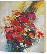 Bouquet Of Poppies Wood Print