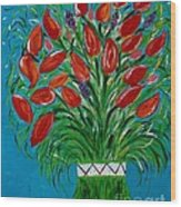 Bouquet Of Red Wood Print