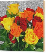 Bouquet Of Roses Wood Print