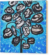 Bouquet Of White Poppies Wood Print