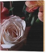 Bouquet With Rose Wood Print