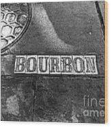 Bourbon Mono Wood Print