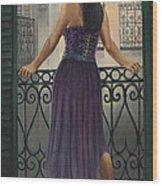 Bourbon Street Balcony  Wood Print