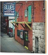 Bourbon Street Blues Wood Print