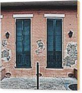 Bourbon Street Doors Wood Print