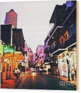 Bourbon Street Early Evening Wood Print