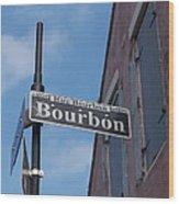 Bourbon Street Wood Print