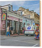 Bourbon Street - Let The Party Begin Wood Print