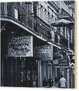 Bourbon Street New Orleans Wood Print