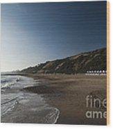 Bournemouth Beach Huts Wood Print