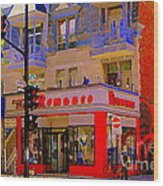 Boutique Erotique Romance Mont Royal The Love You Make Is Equal To The Love You Take City Scene Art Wood Print