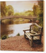 Bow Bridge Nostalgia 2 Wood Print