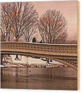 Bow Bridge Panorama Wood Print