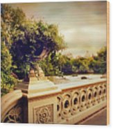 Bow Bridge View Wood Print
