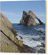 Bow Fiddle Rock In Scotland Wood Print by John Kelly