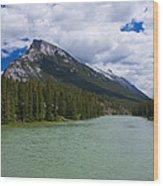 Bow River - Banff Wood Print