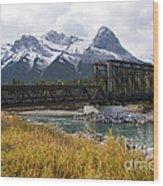 Bow River Railroad Trestle Wood Print