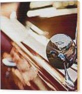 Bow Tie Mirror Wood Print