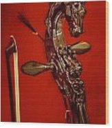 Bowed Lute Wood Print