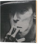 Bowie In Berlin 14/16 Wood Print