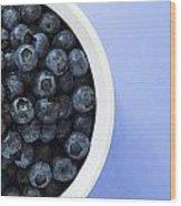 Bowl Of Blueberries Wood Print