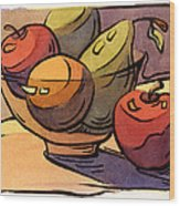 Bowl Of Fruit 8 Wood Print