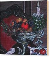 Bowl Of Holiday Passion Wood Print