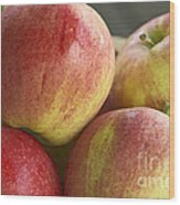 Bowl Of Royal Gala Apples Wood Print