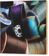 Bowl Of Thread Wood Print