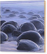 Bowling Ball Beach California Wood Print