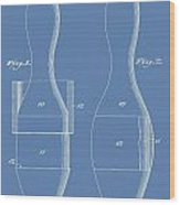 Bowling Pins Patent On Blue Wood Print