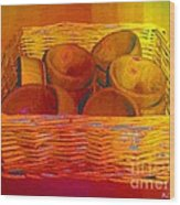 Bowls In Basket Moderne Wood Print
