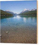 Bowman Lake Wood Print