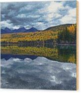 Bowman Lake Quietude Wood Print
