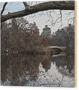 Bows And Arches - New York City Central Park Wood Print